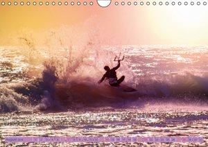 Kitesurfen - über den Wellen (Wandkalender 2016 DIN A4 quer)