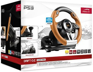 Speedlink DRIFT O.Z. Racing Wheel/Lenkrad SL-4495-BKOR - black-o
