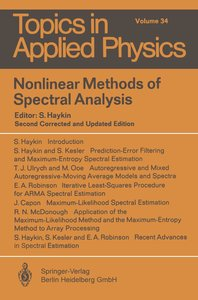 Nonlinear Methods of Spectral Analysis