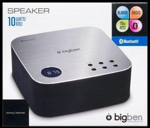 Bluetooth-Radiowecker BT04, schwarz-silber