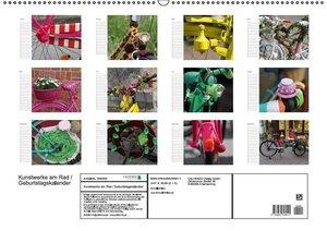 Kunstwerke am Rad / Geburtstagskalender (Wandkalender immerwähre