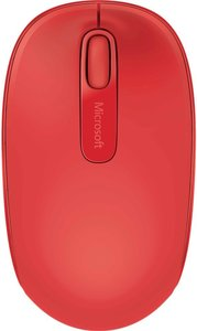 Microsoft Wireless Mobile Mouse 1850, Maus, schnurlos, rot
