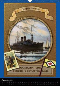 Deutsche Handelsschiffe vor 1945 (Wandkalender 2016 DIN A3 hoch)