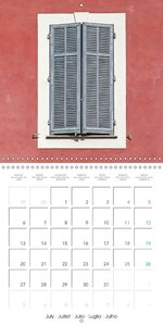 Windows of Provence (Wall Calendar 2015 300 × 300 mm Square)