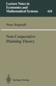 Non-Cooperative Planning Theory