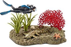 Schleich 42328 Taucher im Korallenriff
