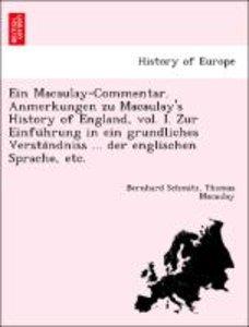 Ein Macaulay-Commentar. Anmerkungen zu Macaulay's History of Eng