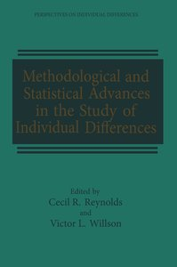 Methodological and Statistical Advances in the Study of Individu