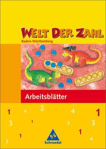 Welt der Zahl 1. Arbeitsheft. Baden-Württemberg. Neubearbeitung