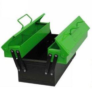 Corvus A600015 - Werkzeugkasten aus Metall, grün/schwarz