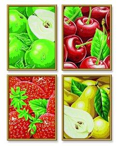 Schipper 609340535 - Tutti Frutti, 4 Bilder, MNZ, Malen nach Zah