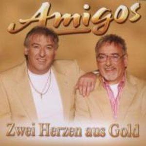 Zwei Herzen aus Gold