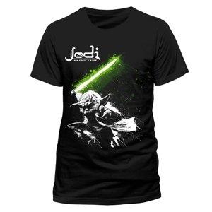 Yoda Jedi Master (T-Shirt,Schwarz,Größe M)