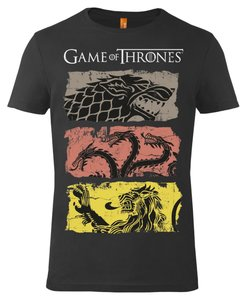 Shirt - Game of Thrones: House Stark, Lannister, Targaryen - Bla