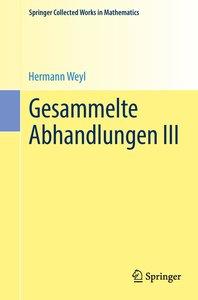 Gesammelte Abhandlungen III