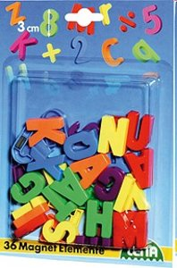 Lena 65745 - Magnet: Großbuchstaben, 3 cm, 36 Buchstaben Magnete