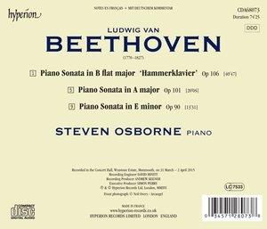Klaviersonaten Opp.90,101 & 106