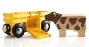 Brio 33406 - Tierwagen mit Kuh