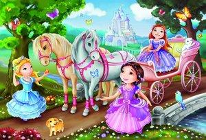 Märchenhafte Prinzessinnen. Puzzle 2 x 26 Teile
