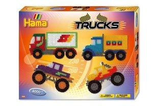 Hama 3132 - Geschenkpackung Trucks, circa 4000 Bügelperlen und e
