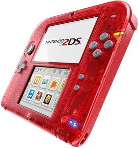 Nintendo 2DS - Konsole - Rot Transparent inklusive Pokémon Rote