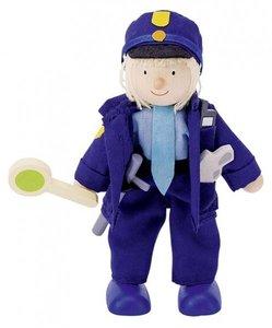 Goki 51610 - Biegepuppe Polizist aus Holz