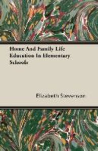 Home And Family Life Education In Elementary Schools