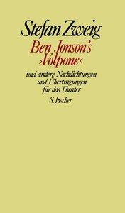 Ben Jonson's »Volpone« und andere Nachdichtungen und Übertragung