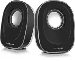Speedlink TOPICA Stereo Speakers, Lautsprecher USB, schwarz