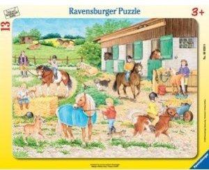 Ravensburger 06026 - Reiterhof, 13 Teile Rahmenpuzzle