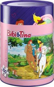 Schmidt 56913 - Bibi und Tina in Spardose Puzzles, 100 Teile