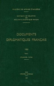 Documents Diplomatiques Francais: 1962. Tome I