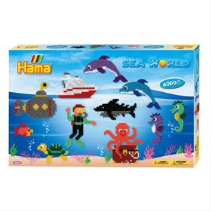 Hama 3035 - Geschenkpackung Leben im Meer, 3x große Stiftplatten