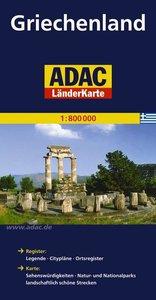ADAC LänderKarte Griechenland 1 : 800 000