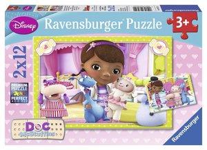 Ravensburger 07572 - Disney: Kleine Spielzeugärztin, Puzzle, 2x1