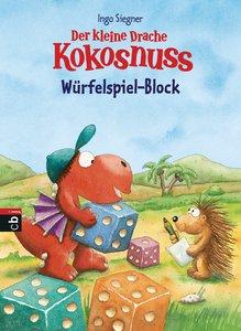Der kleine Drache Kokosnuss - Block für Würfelspiel