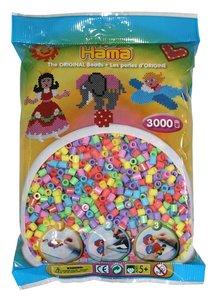 Hama 201-50 - Perlen pastell, pastellfarben, 3000 Stück