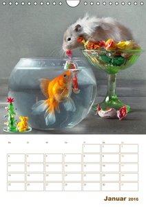 Hamster Zuhause von Elena Eremina (Wandkalender 2016 DIN A4 hoch