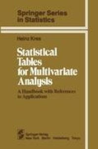 Statistical Tables for Multivariate Analysis