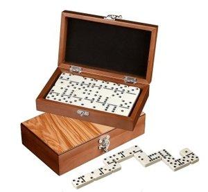 Philos 3625 - Domino, Doppel 6 - in Holzkasten