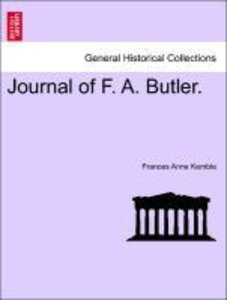 Journal of F. A. Butler.