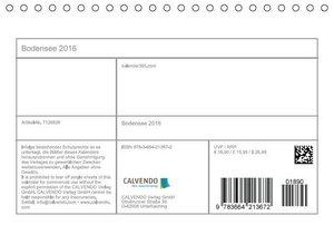 Bodensee 2016 (Tischkalender 2016 DIN A5 quer)