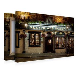 Premium Textil-Leinwand 45 cm x 30 cm quer Greyfriars Bobby Pub