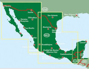 Mexiko, Autokarte 1:1.500.000