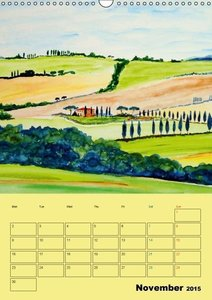 Beautiful Tuscany (UK-Version) (Wall Calendar 2015 DIN A3 Portra