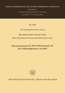 Beweisprogramme für die Prädikatenlogik und der Vollständigkeits