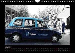 Taxis in London / UK-Version (Wall Calendar 2015 DIN A4 Landscap