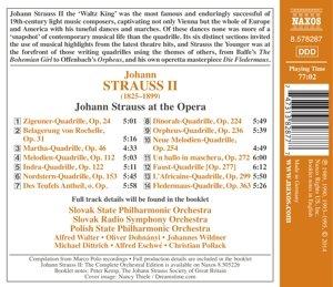 Johann Strauss at the Opera