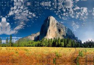 Premium Textil-Leinwand 45 cm x 30 cm quer El Capitan, Yosemite