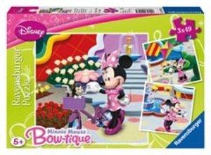 Ravensburger 09416 - Hübsche Minnie Mouse, Puzzle, 3x49 Teile